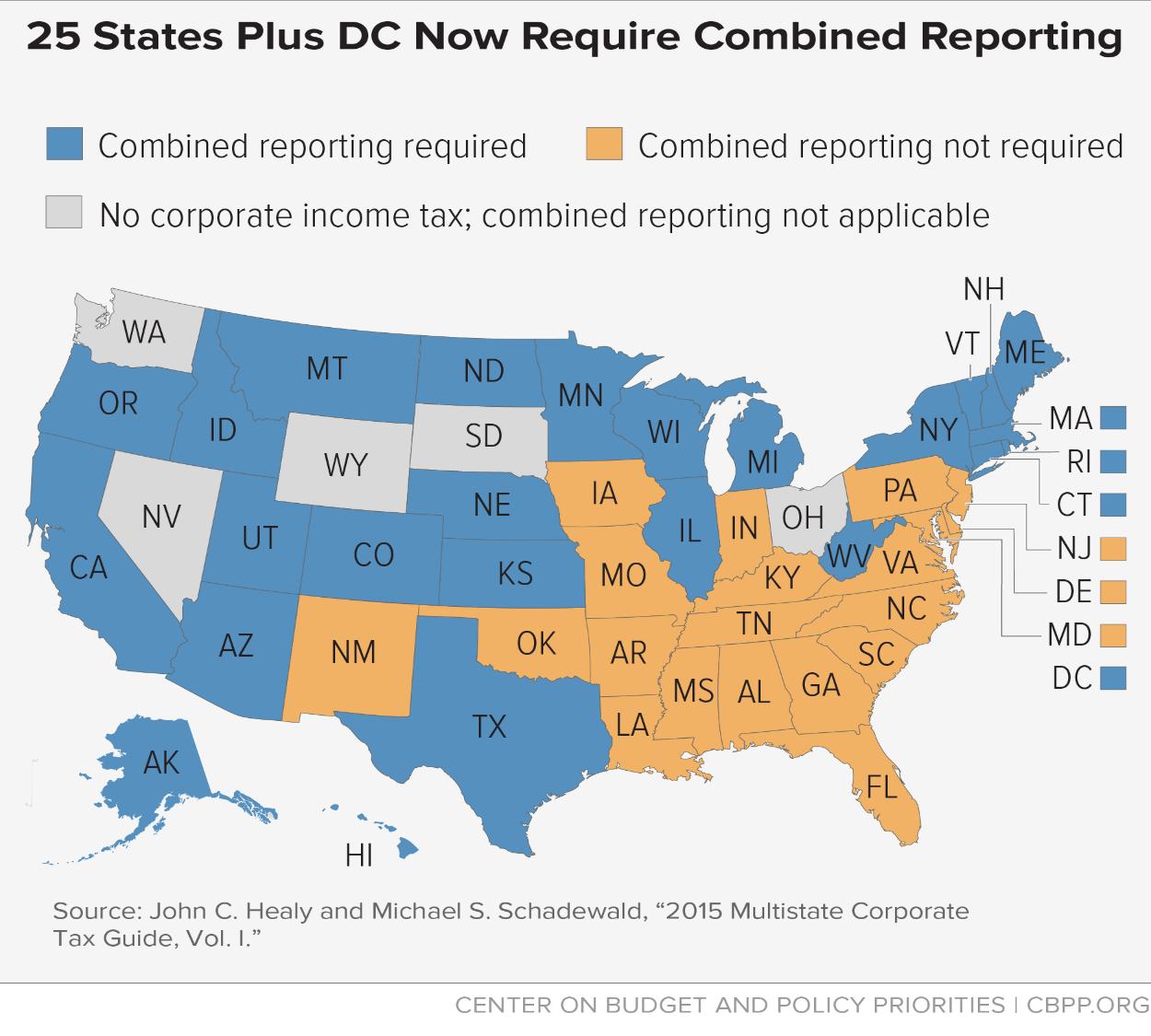 No State Income Tax States Map.Arkansas S Fading Corporate Income Tax Arkansas Advocates For