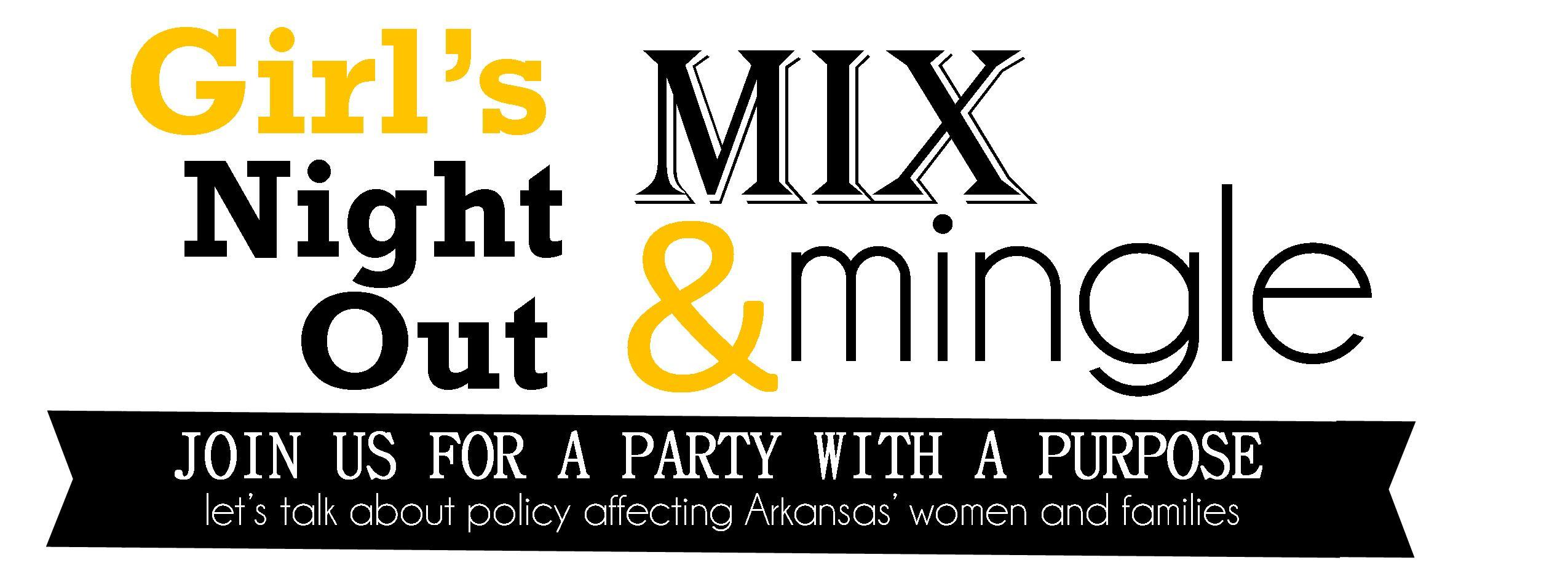 girls night out mix mingle policy talk arkansas advocates for